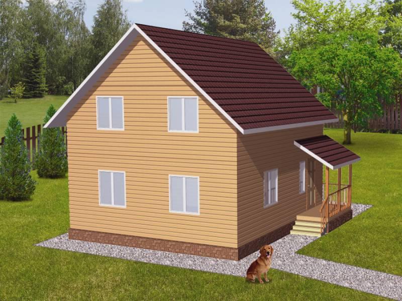 Дом 7Х8 (1,5) каркасный двухэтажный