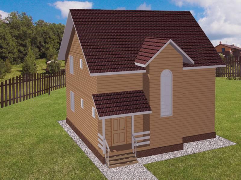 Дом 9,6Х9,5 каркасный двухэтажный
