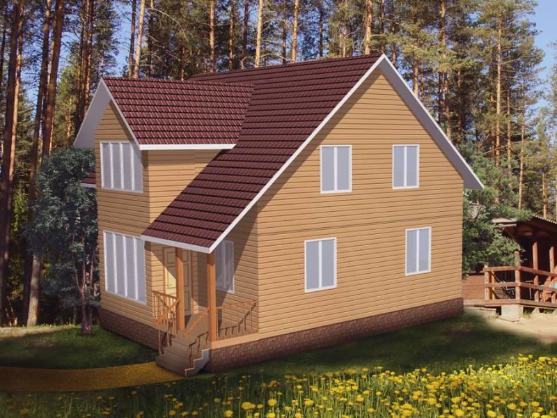Дом 10Х10 каркасный двухэтажный