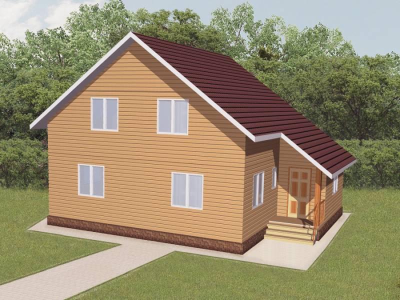 Дом 8,7Х10,7 каркасный двухэтажный