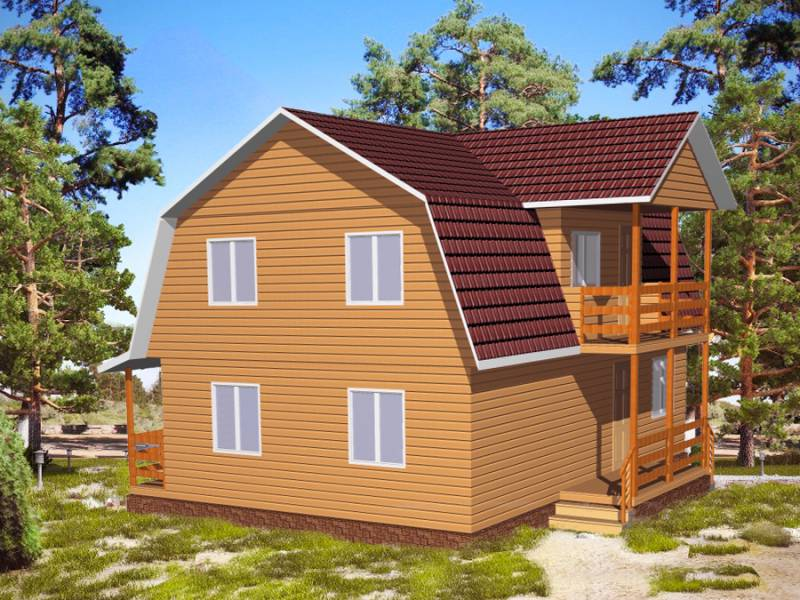 Дом 8Х9 каркасный двухэтажный